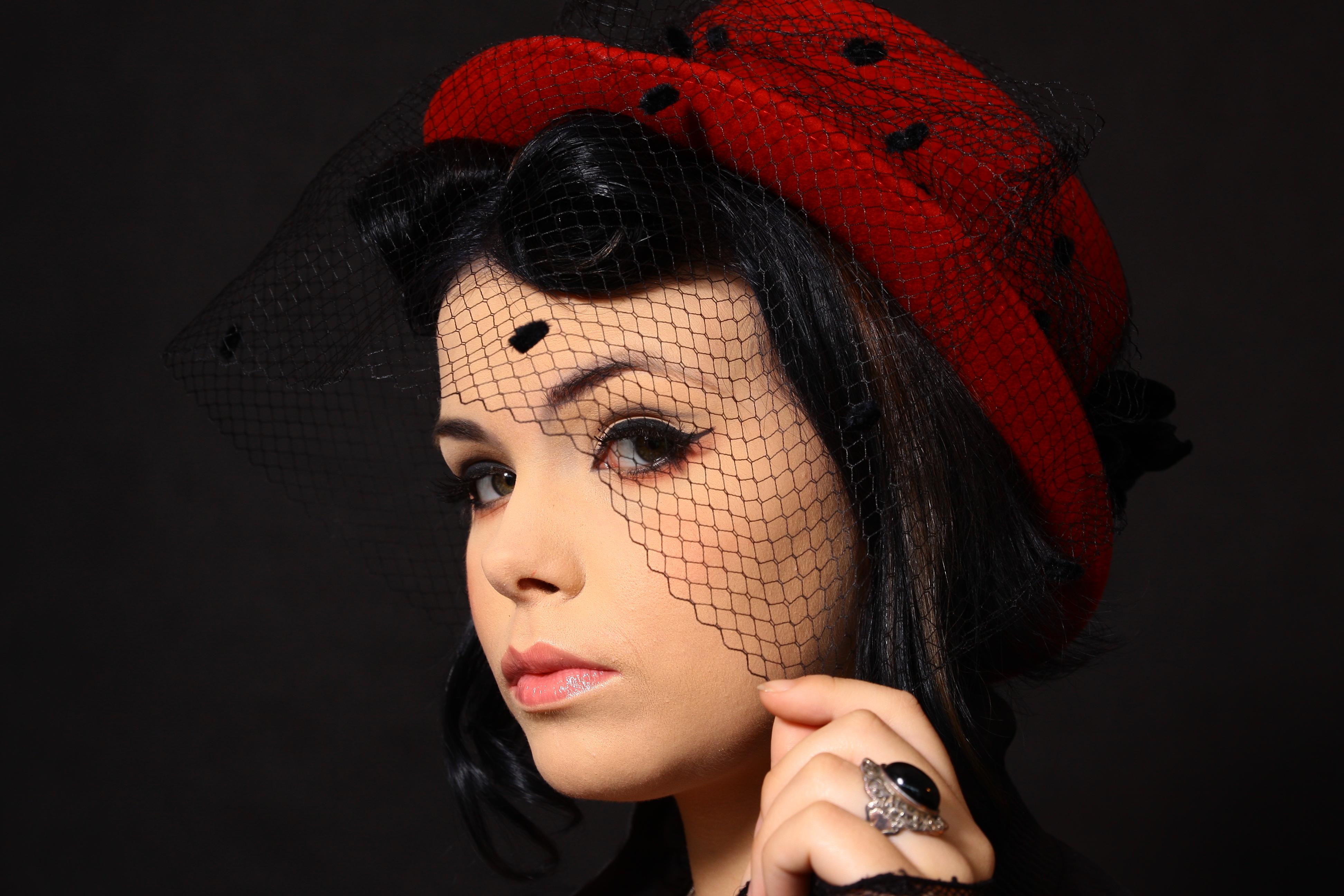 Makijaż retro. Modelka - Julia Tabaczyńska